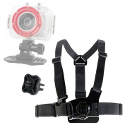 DURAGADGET Premium Quality Polaroid Action Camera Chest Harness Mount - Fully Adjustable Chest Harness Mount With Quick Release-Buckle For Polaroid XS100 Extreme Edition, Polaroid XS20, Polaroid XS7 HD, Polaroid XS80 & Polaroid XS9 HD - Plus BONUS GoPr ..