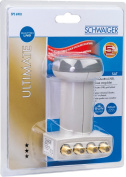 Schwaiger extremely heat resistant SUN Protect Quattro LNB Light Grey