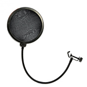 Ewin24 Professional Mpf-6 15cm Clamp On Microphone Pop Filter-Black