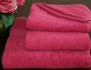 Homescapes Turkish Cotton Bath Towel Raspberry Very Soft and Absorbent, 500 GSM Heavy Weight for everyday Luxury