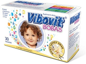 VIBOVIT BOBAS - 30 sachets - vanila flavour - is a set of 10 essential vitamins are important for the proper functioning of the body Vibovit Bobas complements the daily diet of children aged 2-4 years .