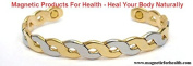 MAGNETIC THERAPY BANGLE 3254 CHAIN LINK STYLE SILVER / GOLD PLATED ON COPPER