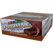 Promax Promax Energy Bar Double Fudge Brownie 12 bars