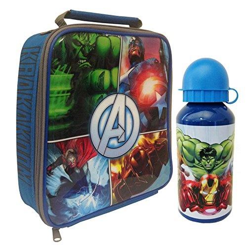 d26ab1e71220 Marvel Avengers Assemble - Vertical Lunch Bag & Aluminium Drink ...