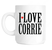 Coronation Street I Love Corrie Novelty Fun Mug Ideal Father's Day Gift, Mother's Day Gift, Workplace Present, Birthday Present or Christmas Present for all those who love The Soap