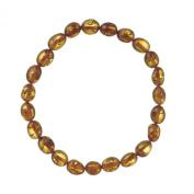 Nature d'Ambre 3180442 Elastic Bracelet Amber Cognac