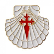 Scallop Shell with Jacob's Cross Pin