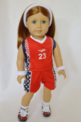 TEAM BASKETBALL OUTFIT FOR AMERICAN GIRL DOLLS