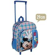 MICKEY - Children's Rucksack with Wheels - H29cm