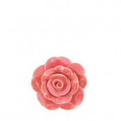 Vintage Rose Ceramic Drawer Pull Coral