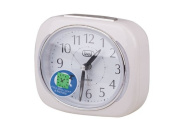 Trevi SL 3040 Retro Bedside / Travel Alarm Clock with LED Backlight and Silent Sweep Second Hand