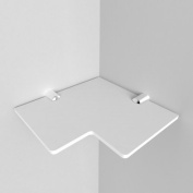 "Small Acrylic Corner Safety Shelf - 150mm - approx 6"" comes with Chrome fixings, White"