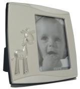 Baby Giraffe Photo Frame Silver Plated