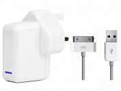 iPad 1, 2 and 3 Fast Charger 2.1 amp High Quality USB Mains Charger Includes USB cable for the latest iPad 1,2, and 3 and iPod Touch 5th Gen and your other devices with the same connector, CE certified