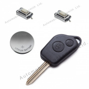 DIY Repair Kit - for Citroen Saxo Picasso Xsara Berlingo 2 button remote key fob refurbishment
