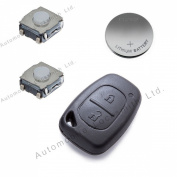 DIY Repair Kit - for Vauxhall Renault fits Nissan 2 button remote key refurbishment