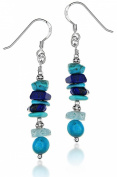Tuscany Silver and Turquoise Bead Drop Earrings