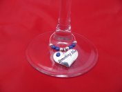 Something Blue Wine Glass Charm by Libby's Market Place