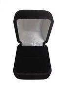 Gorgeous Premium Domed Shape Black Velvet Ring Box With Metal Hinge