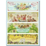 FRENCH VINTAGE METAL SIGN 20x15cm RETRO AD FOUR SOAPS FOR BABIES