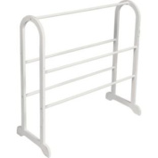 White Contemporary Freestanding Wooden Towel Stand