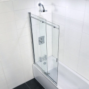 Coram Showers SSL2105CUC 1400mm x 650 - 1065mm 2-Panel Sliding Bath Screen with 5mm Thick Clear Glass - Chrome