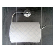 Sabichi Oceana Chrome Metal Toilet Paper Roll Loo Holder Wall Mounted With Fitting Screw