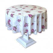 Quality round polyester fabric tablecloth with floral patterns 150CM Q