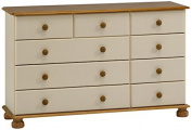 Steens Richmond 2/3/4 Chest of Drawers, Cream/Pine