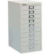 Bisley 10 Multidrawer Filing Cabinet H12910nl - White