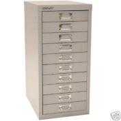Bisley 10 Multidrawer Filing Cabinet H12910nl - Silver