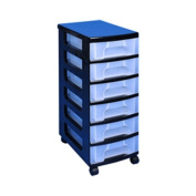 Really Useful Tower 6x7 Lit Drawers - Black