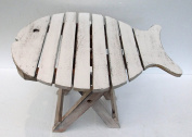 Unusual Folding Rustic Table Hand Made ethnic Fish design Shabby chic Table