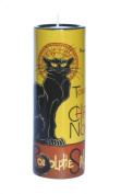 Ceramic Steinlen LE CHAT NOIR Light Holder Candlestick by Parastone - with tealight