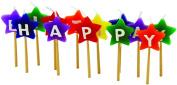 Tala Happy Birthday Coloured Star Candles