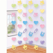 Amscan International Baby Shower Hanging String Decorations, Pack of 6