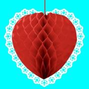 Amscan International Decorative Heart Honeycomb, Red