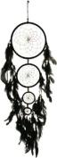 4 Ring Black Dreamcatcher Multicolour Webbing