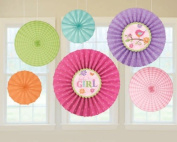 Amscan Decorative Tweet Baby Girl Paper Fan Party Accessory