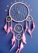 Dream catcher Large silver web light pink dreamcatcher