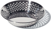 Alessi 20 cm Round Open-Work Basket in 18/10 Stainless Steel Mirror Polished
