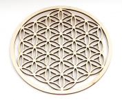 Berk EN-072 Meditation Accessory, Wooden Flower of Life Design 14.4 cm