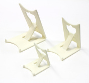Display Stand : Clip Large Ivory Plastic x 2 : Plate Support