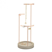 Umbra Tesora Jewellery Stand, Concrete/Copper