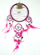 Dream Catcher Pink 16cm With Mirrors