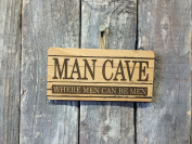 MAN CAVE FUNNY WOODEN SIGN