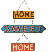 Home Sweet Home Retro Hanging Metal Sign