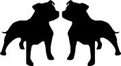 Staffy Staffordshire Bull Terrier Dog Car Van Window Bike Stickers SBD11