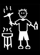 Official My Stick Figure Family Car Window Vinyl Sticker Male BBQ & Beer Lager M6