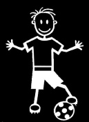 Official My Stick Figure Family Car Window Vinyl Sticker Boy Football B3